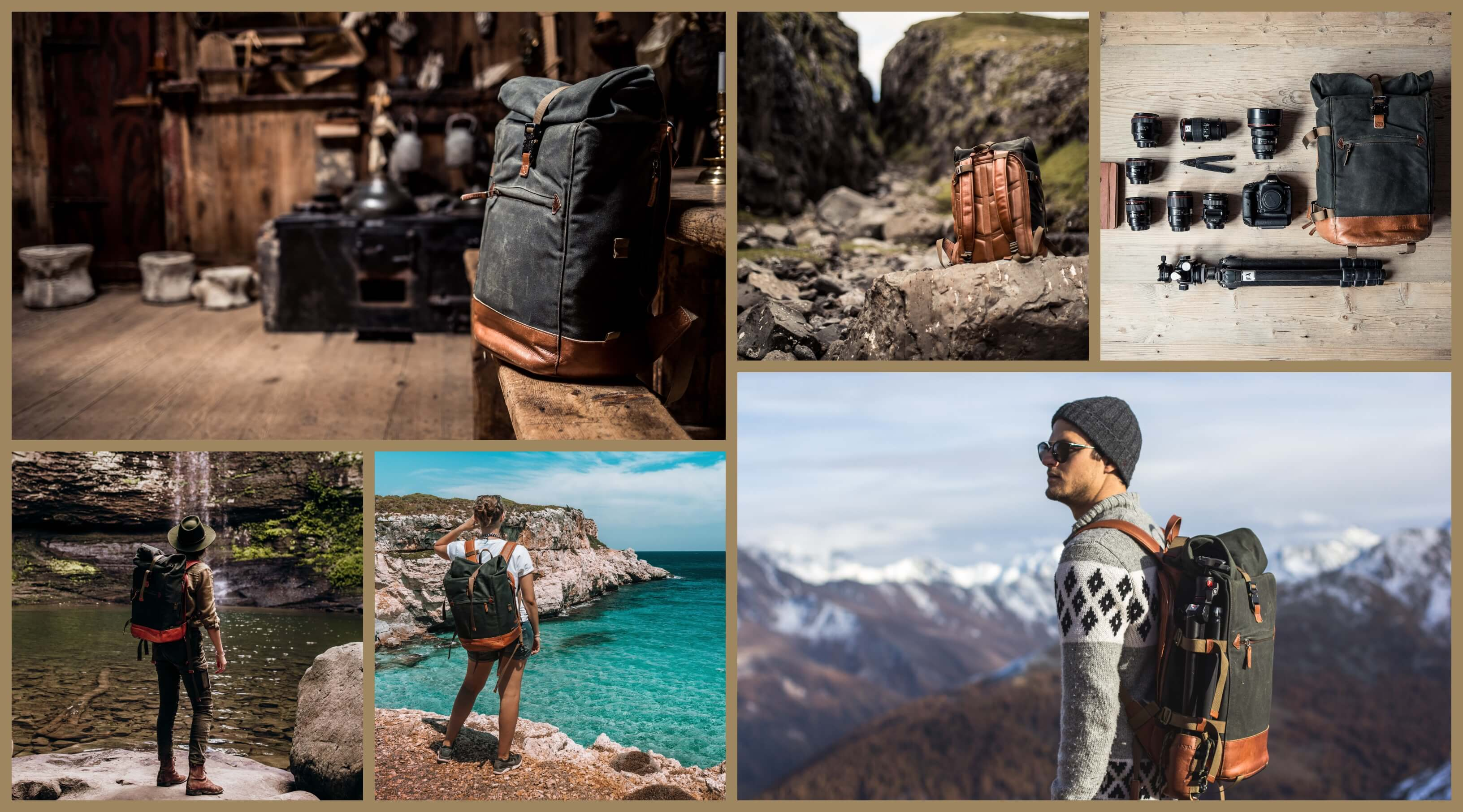 compagnon_backpack_darkgreen_collage_grid